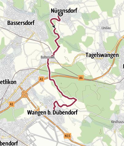 Mapa / Nürensdorf - Wangen b.Dübendorf 14.01.2020 10:08:49