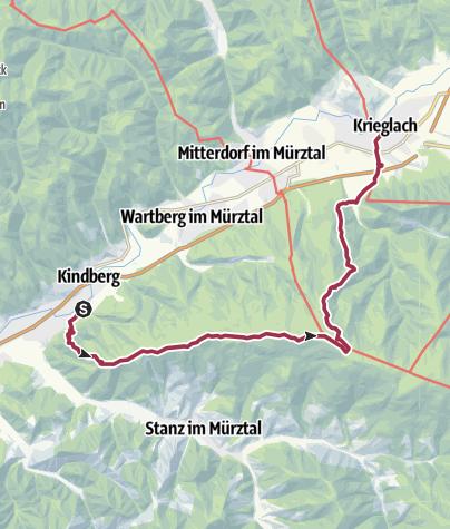 Map / Kindberg to Krieglach
