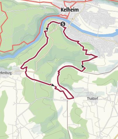 Map / Donaudurchbruch - Weltenburger Wanderweg VII: Hopfental-Rundweg