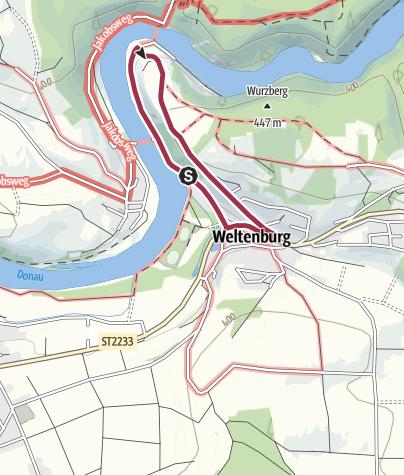 Map / Donaudurchbruch - Weltenburger Wanderweg VIII: Frauenberg-Rundweg
