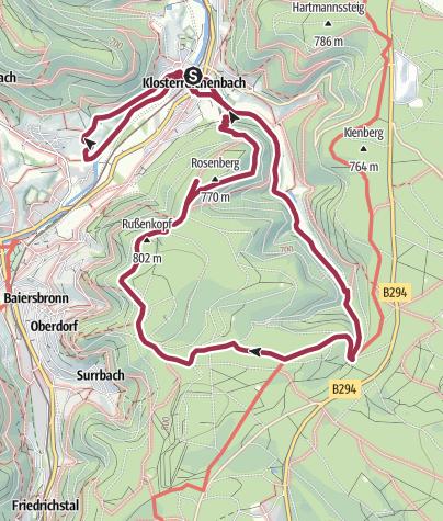 Karte / Mönchsrunde Klosterreichenbach