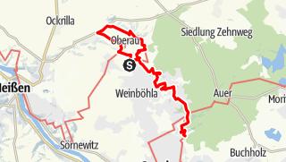 Karte der Tour Aussichtstürme und Weingüter im Elbland