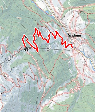 Karte / Von der Mittelstation über Lammhütte zur Talstation
