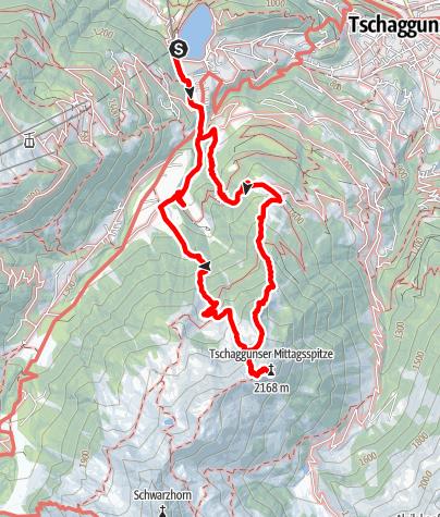 Karte / Tschaggunser Mittagsspitze (ab Latschau)
