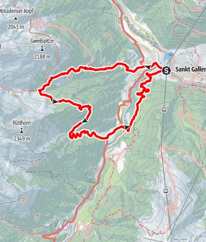Karte / Alpe Innergweil