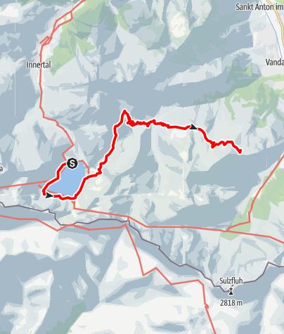 Karte / Vom Lünersee über die Heinrich Hueter Hütte auf den Golm