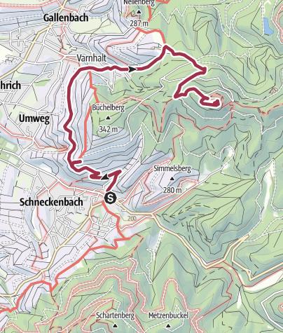 Karte / Yburg 25. April 2020