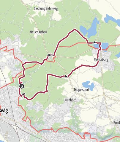 Cartina / Sport- und Freizeitwanderung Friedewald Tour 3