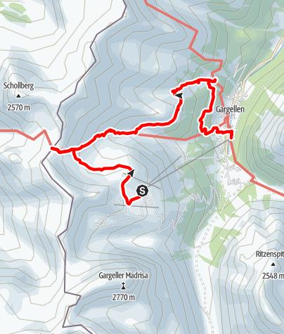 Karte / Über das St. Antönier Jöchli zur Alpe Rongg nach Gargellen