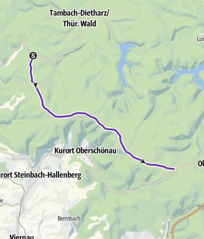Karte / Rennsteigstaffellauf 04 Neue Ausspanne-Grenzadler