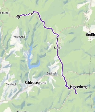 Karte / Rennsteigstaffellauf 06 Allzunah-Masserberg