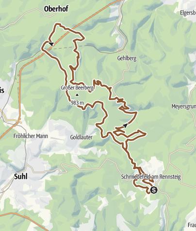 Karte / Rennsteig Ride E-Bike