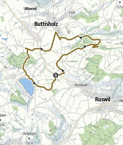 Karte / Ruswil Pferdetour 22. Januar 2020 um 15:14