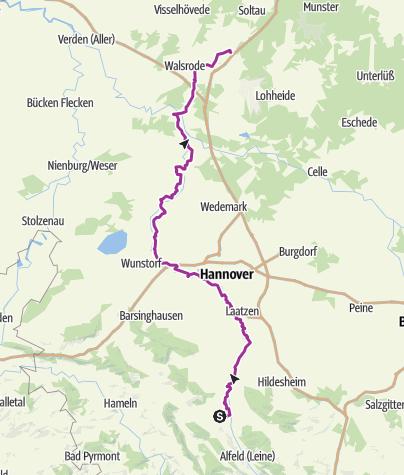 מפה / Leine-Heide-Radweg Teil 2