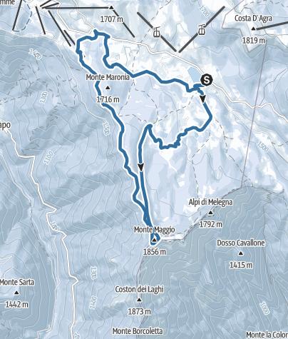 Map / WR 039 Da Malga Zonta a Monte Maggio