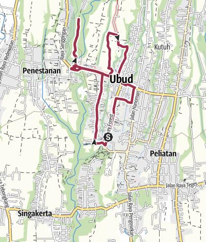 Térkép / Ubud rizsföldek