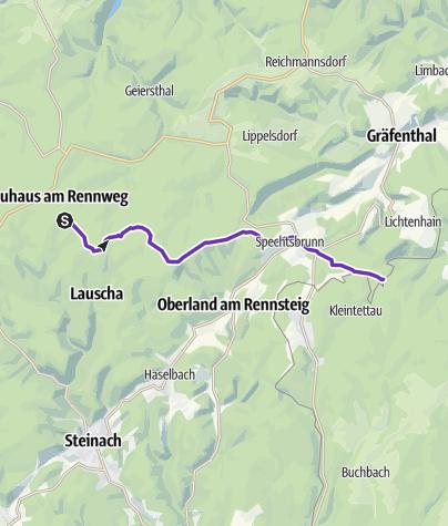 Karte / Rennsteigstaffellauf 08 Neuhaus-Schildwiese