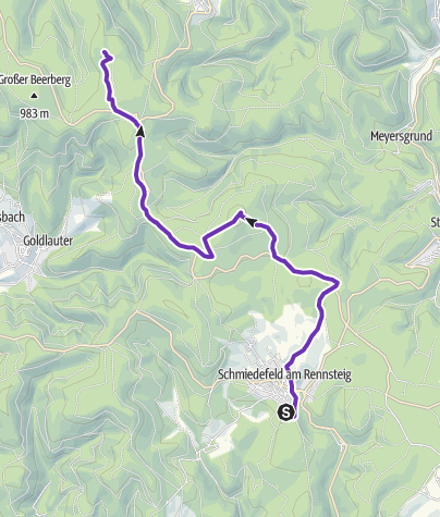 Karte / Schneekopflauf 12,7km
