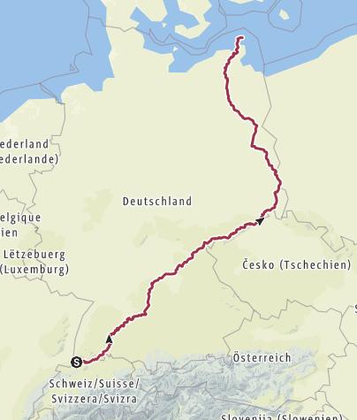 Karte / bikepacking through germany