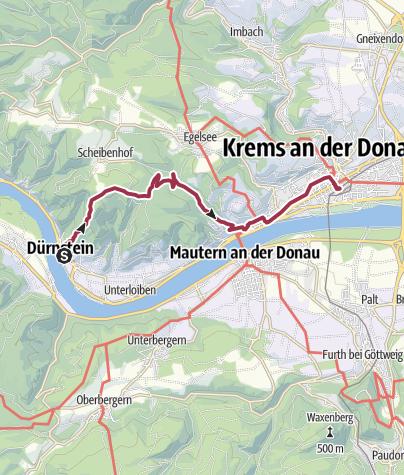 Karte / Dürnstein-Krems-Hiking-3h-10km
