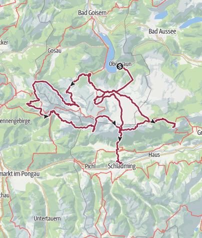 Map / Dachstein-Tour auf unschwierigen Wegen