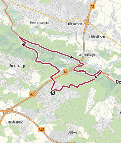 Map / B+H-2020-02-07: von Sennestadt zum Hermannsweg