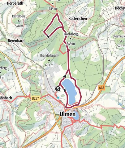 Mapa / Ulmen Jungfernweiher
