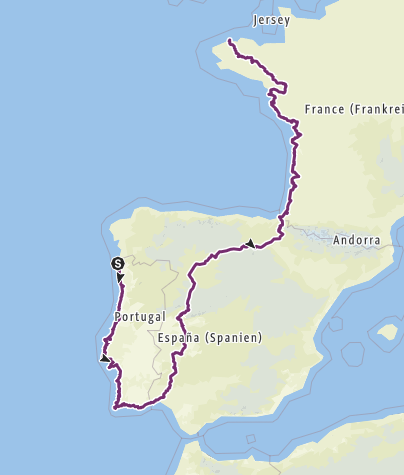 Karte / EV1: Portugal nach Frankreich