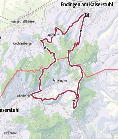 Hartă / 08.03.20 - Sportive Wanderung am Kaiserstuhl