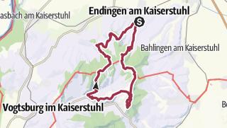 Karte / 08.03.20 - Sportive Wanderung am Kaiserstuhl