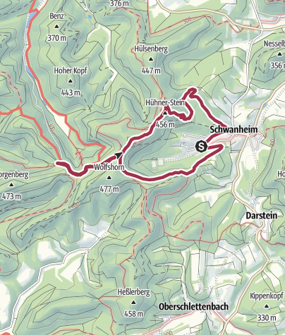 Karte / Rundtour zur Dicken Eiche, 8 km
