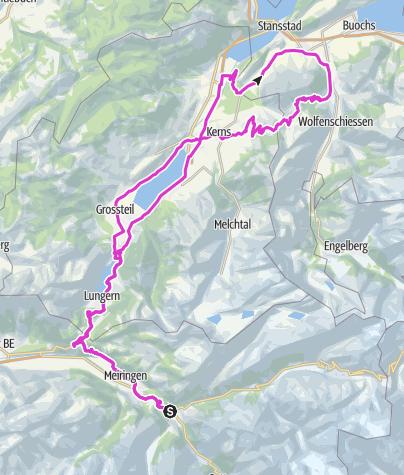 Karte / HasliBike Aecherlipass