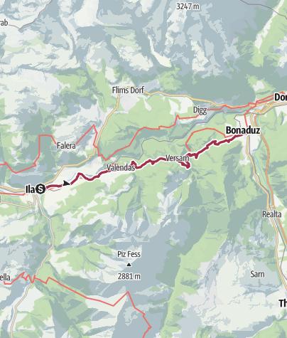 Karte / 02 Ilanz - Bonaduz