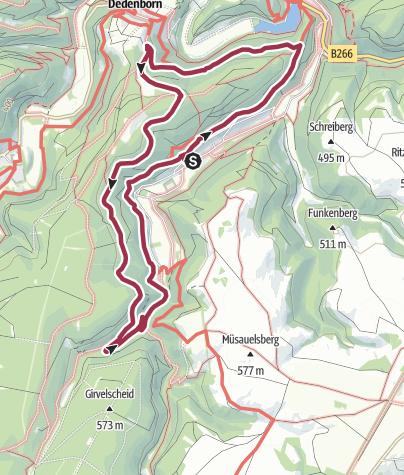 Karte / Wanderung 1971