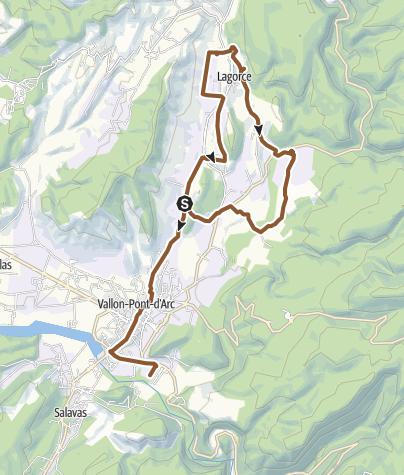 Carte / MTB La vallée de l'Ibie (Ardéche)