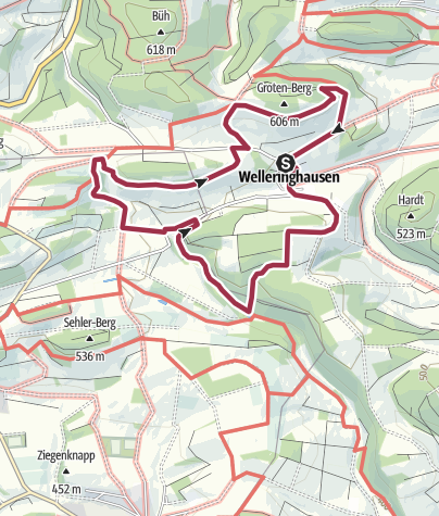 Map / Rund um Welleringhausen (Willingen)