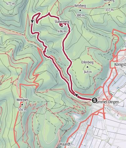 Karte / Pfalz/Gimmeldingen: Hoch und runter auf den Stabenberg