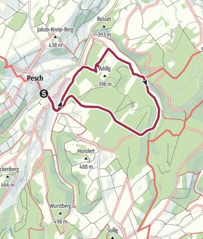 Karte / Wanderung 1977