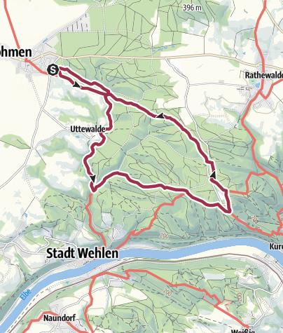 Karte / Uttewalder Grund | Kleine Runde ab Lohmen