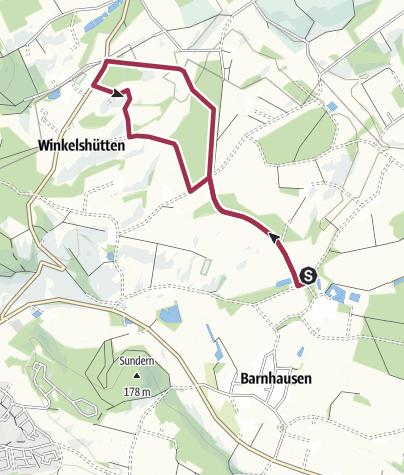 Karte / Barnhausen, Haus Brincke, A9, neue Wegführung