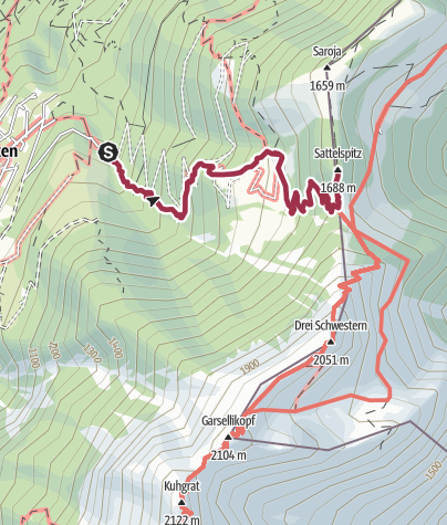 Map / Planken - Gafadurahütte