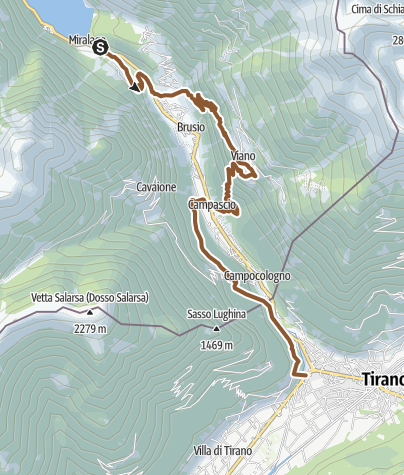 Karte / Viano - Monte Scala da Miralago