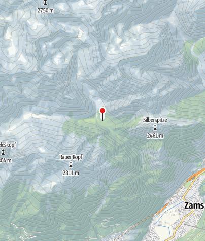 "Cartina / Rifugio ""Unterlochalp"" (1.556 m)"
