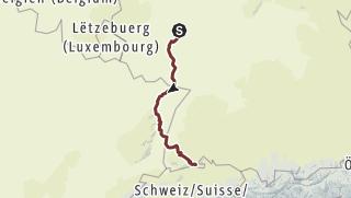 Map / Maria pilgrimsrute 01. Bingen - Schaffhausen