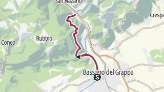 Map / Valsugana, Vicenza-Alta Via del Tabacco, tappa01 Bassano-Campolongo