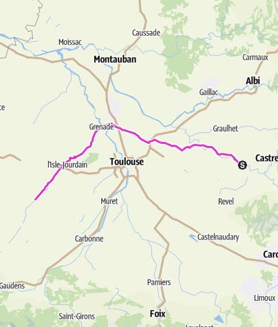Mapa / En route pour Capbreton - jour 1