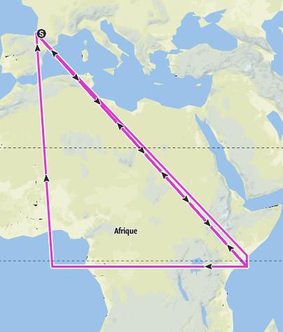 Carte / En route pour Capbreton - jour 3