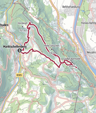 Karte / Köpplschneid - Barmsteine
