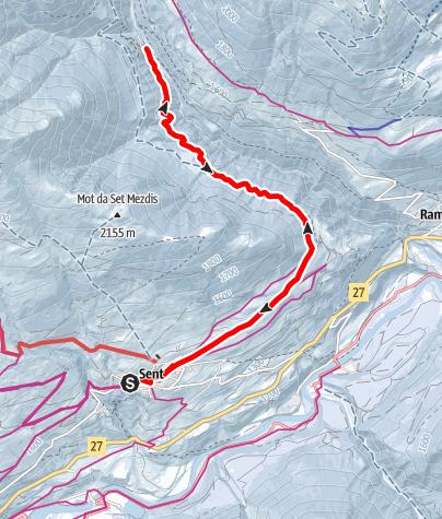 Map / Sent - Val Sinestra, Landschaft des Jahres 2011