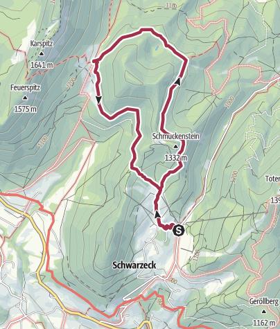 Karte / Rund um den Schmuckenstein